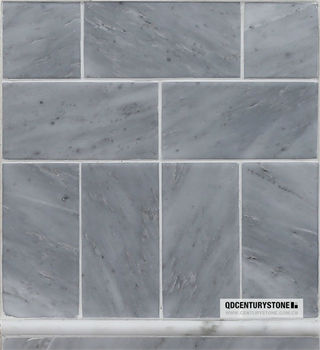 1x2 Basketweave Polished Sunny Gray Marble Wall And Flooring Tiles