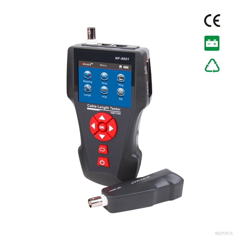 Noyafa NF-8601A Big LCD color cable length tester test open / short / cross connection, popular ! ! !