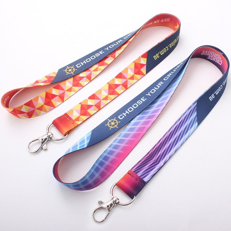 New premium 2cm width sublimation polyester cheap custom lanyard