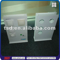TSD-A085 Custom high quality plastic counter top display stand,switches display board,switch pop display