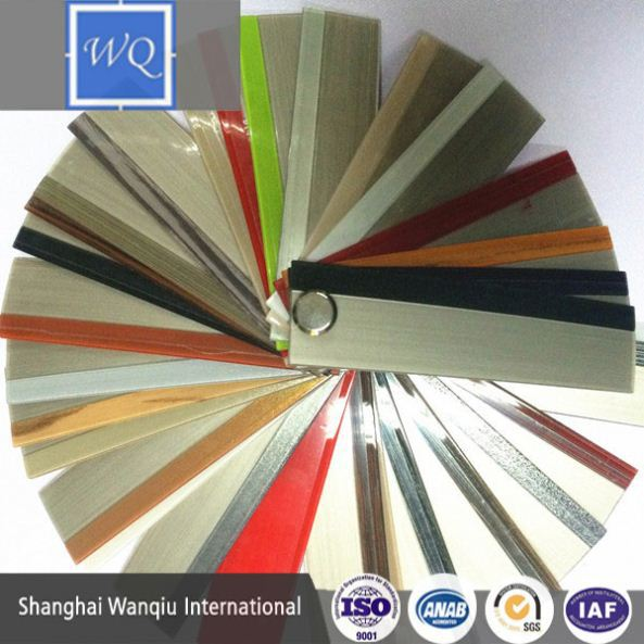 China Manufacturer Vavious Colors aluminum edge banding pvc for Particle board,MDF and Plywood