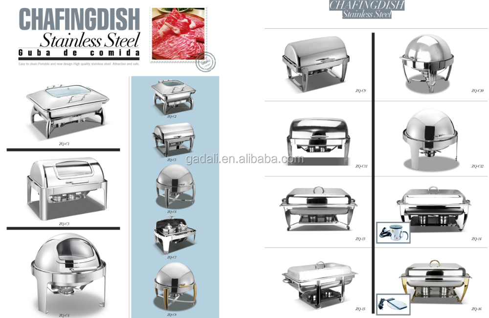 2017 Hot Sale Newest cheap chafing dish, buffet food warmer chafing dish(ZQS-101H)
