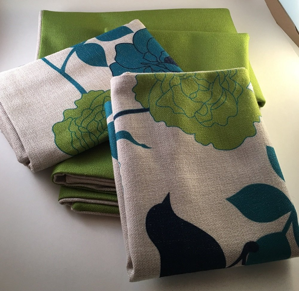 Get Quotations · Set Of 4 Decorative Pillow Covers In A Blue/green Theme To  Enhance Your Living