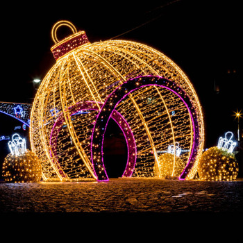Outdoor Large Christmas Decorations Oversize Led Bauble Ornament Lighted Wire Frame Sculptures Buy Large Outdoor Christmas Decorations Outdoor Led