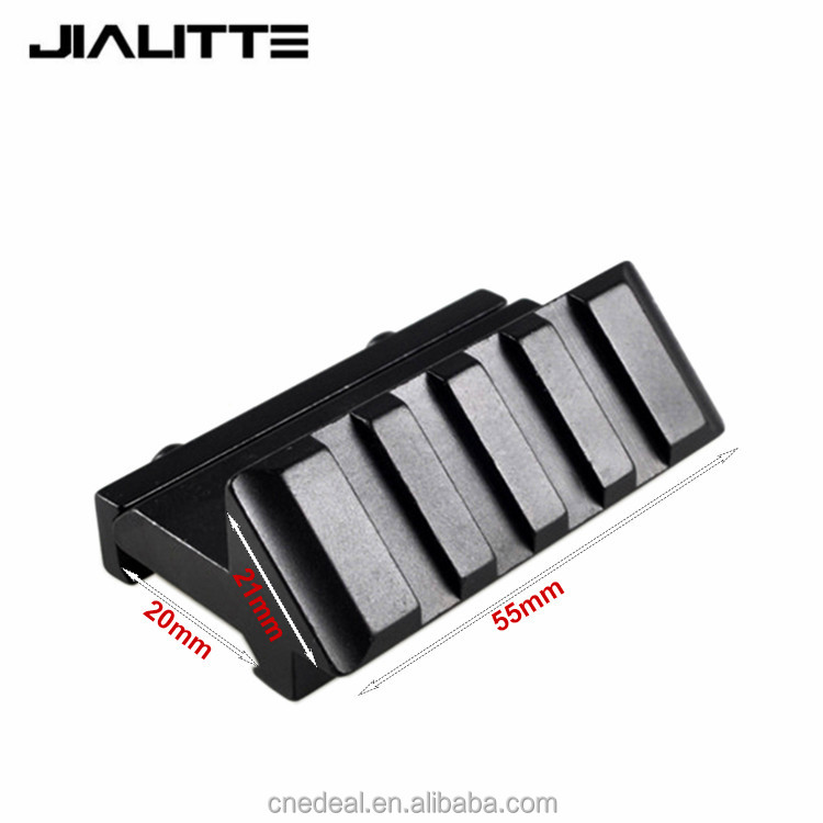 Jialitte Weaver Picatinny Rail AK Handguard Tactical One Side 45 Degree Offset 20mm Rail Mount Caza Hunting Accessories J064