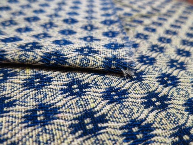 Kleine Bloem 100 Patroon Blauwe Gobelin Stof Polyester Zakken ECwx7qUS