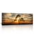 Gallery Wrap Canvas Print Beautiful Sunset Panoramic Canvas Art Print Nightfall Tree Landscape Canvas Prints Ready to Hang