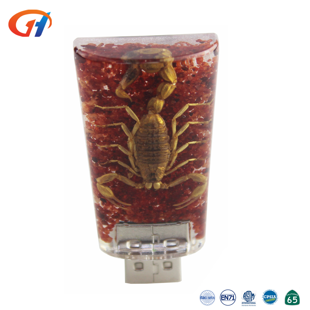Hot Selling Custom Design Transparent Resin 4gb USB Drives Cheap