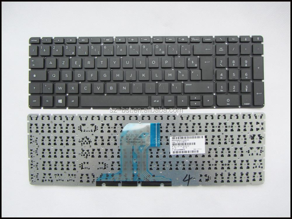 New For HP 250 G4 255 G4 256 G4 15-AC 15-AC000 15-AF 15-AF000 FR black keyboard NO Frame French Francais Clavier Azerty