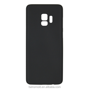 For Samsung Galaxy S9 Case Ultra-Slim 0.35mm PP Thin Anti-Scratch Protective Cover Lightweight Soft Case[Solid Black]