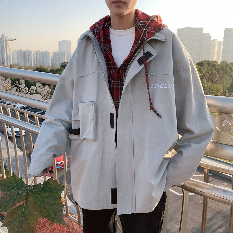 Casual Wearing Large <strong>Zip</strong> Pocket Oversize Hooded Mens Spring Clothing Jackets