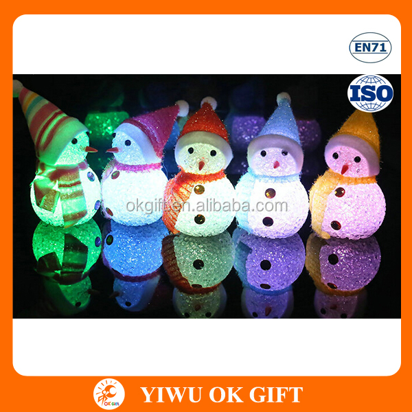 Wholesale Christmas Factory Directly Sale Creative EVA Material Decor LED Light Up Snowman