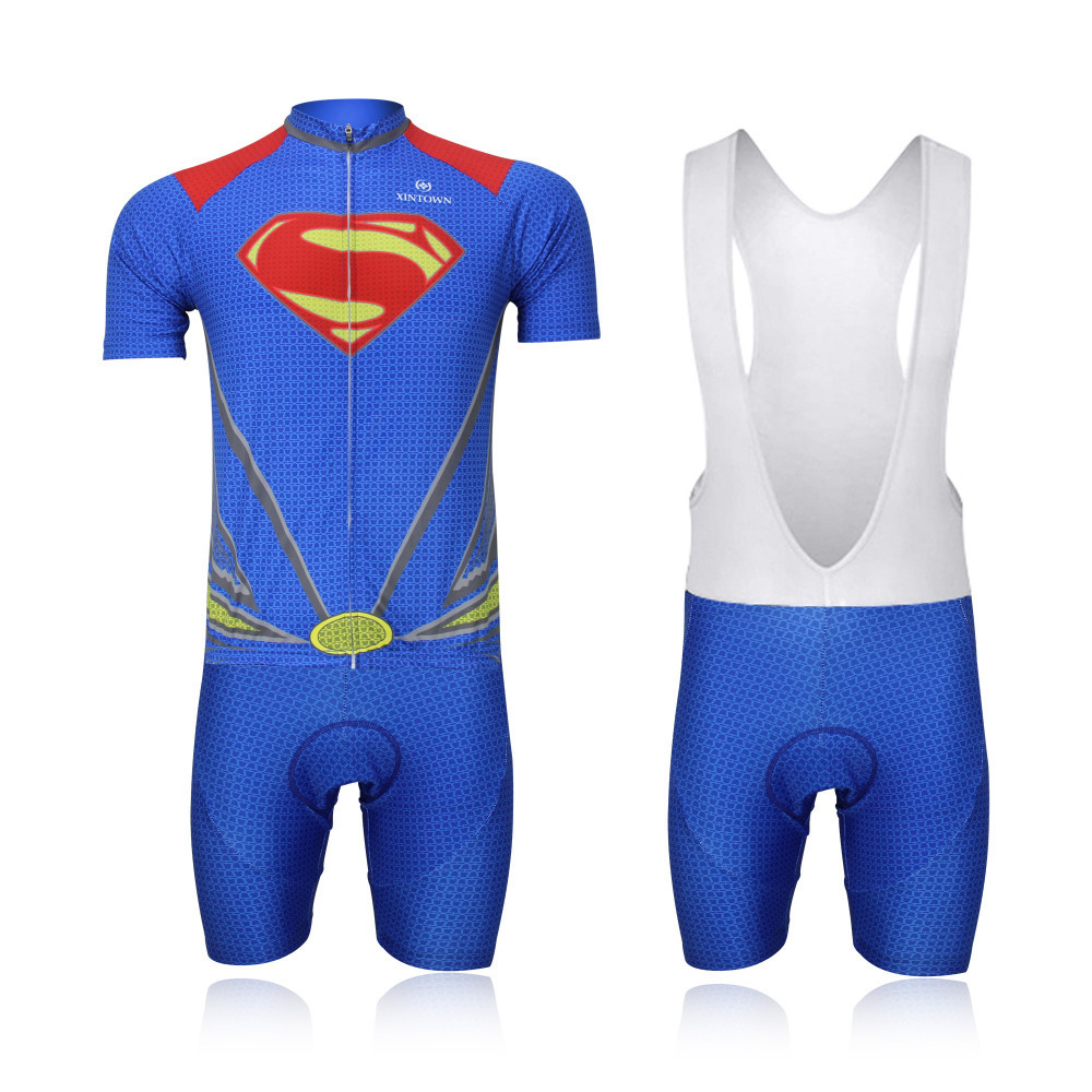Get Quotations · 2015 Cycling Jersey With Shorts or Bib Shorts Cycling Sets Short  Sleeve Superhero Superman Bicycle Clothing 14aeb7628