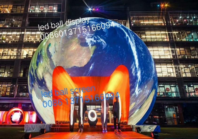 LED-Kugel LED-Kugelanzeige P1.2 P1.5 P1.8 P1.9 P2 P3 großes Projektdurchmesser 1m 2m 3m 4m 5m 6m kann P1.5 LED-Bildschirm angepasst werden