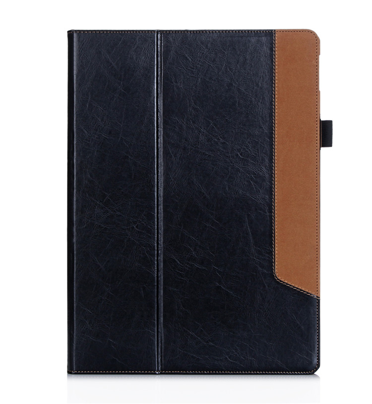 Fit for <strong>ipad</strong> case, Black cover Stand Leather Case for <strong>iPad</strong> Pro 12.9 with card solt
