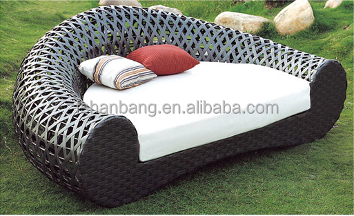 Round Rattan Outdoor Bed Outdoor Hanging Swing Buy Round