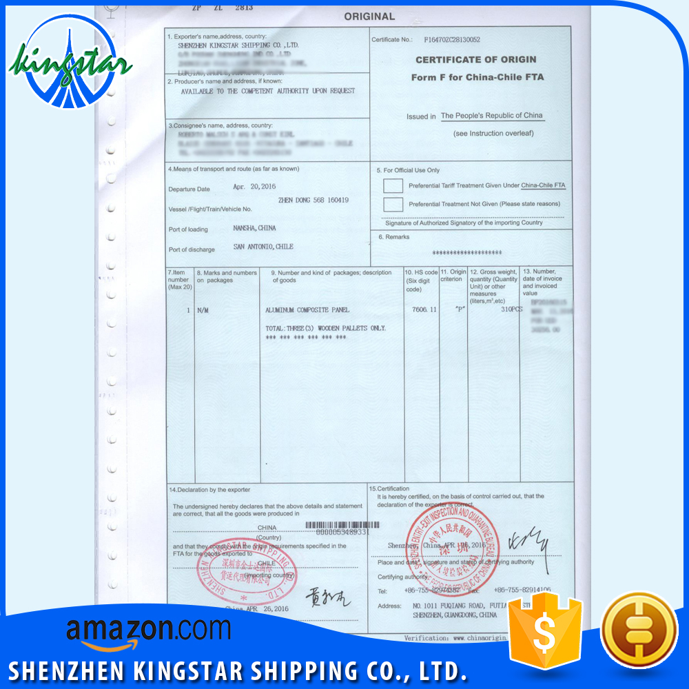 Form F Certificate Of Origin, Form F Certificate Of Origin Suppliers And  Manufacturers At Alibaba.com  Certificate Of Origin Templates