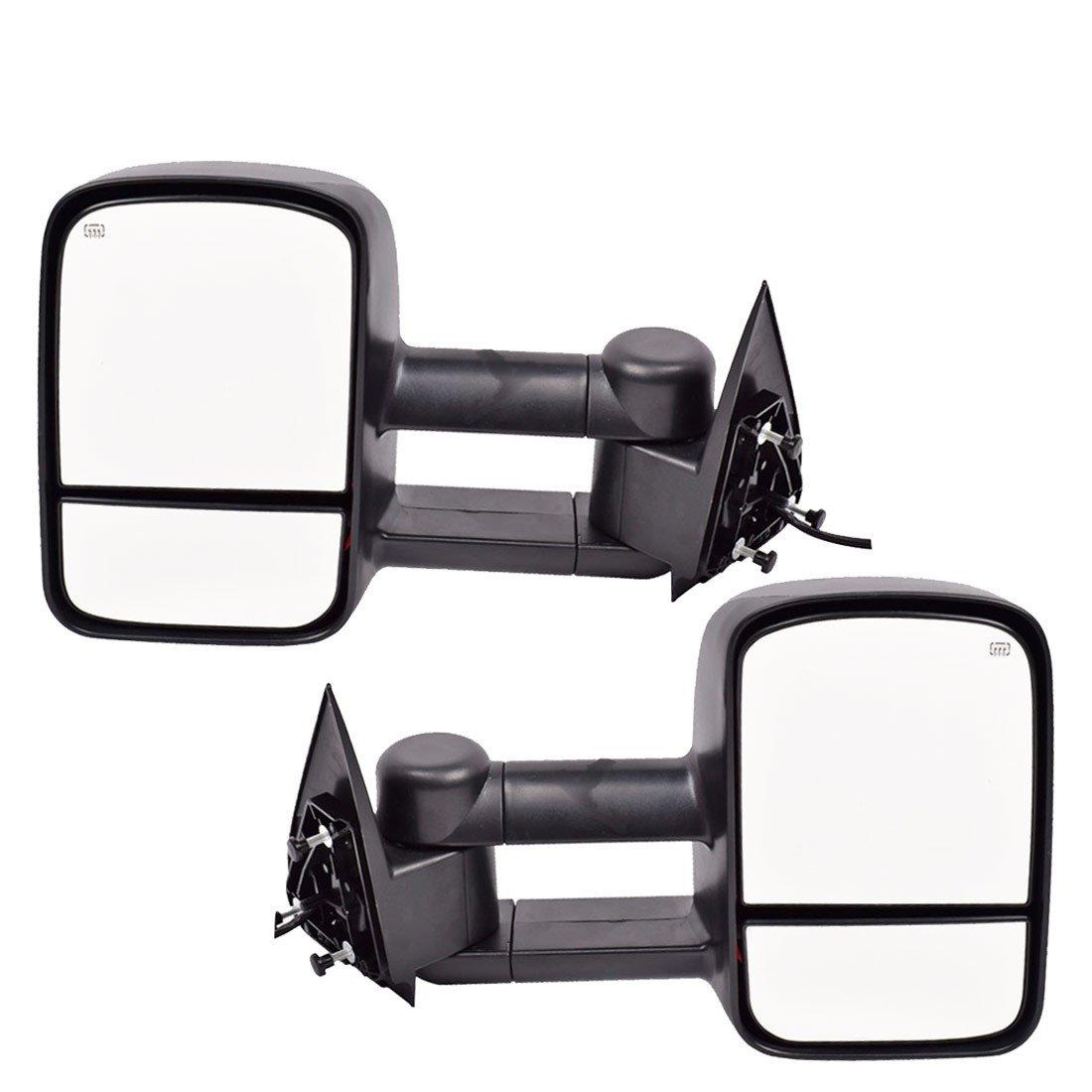 DEDC Towing Mirrors Chevy Silverado 1500 2500 3500 Side View Mirrors For 2003-2006 Chevy Silverado GMC Sierra Power Heated Foldable Pair