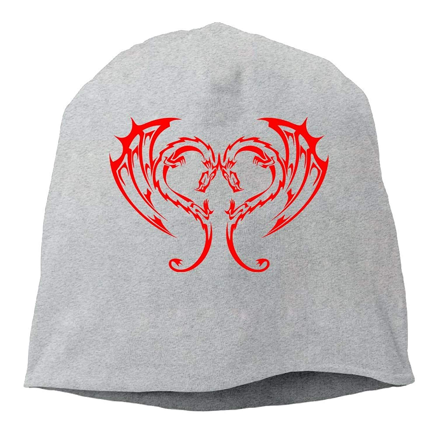 fbe2ac655b578 Get Quotations · YUTtr Dragon Love Tattoo Heart Unisex Knitting Hats Soft  Stretch Beanie Skull Hedging Caps