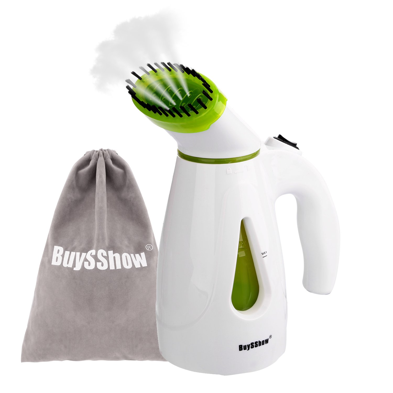 BuySShow Multi-functional Portable Garment Steamer,Mini Travel Steamer,Fabric Steamer, Face steamer,Humidifier,Powerful Handheld Steamer with Fast Heat-up,Travel Pouch and Brush Included