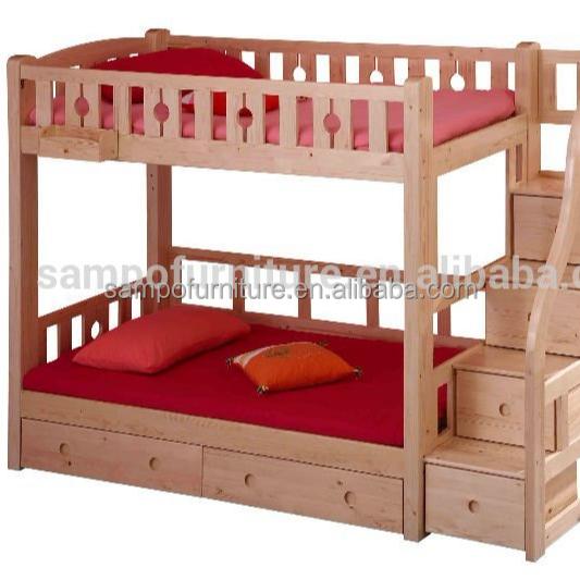 Natural madera de pino sólida niños muebles de dormitorio juego de ...