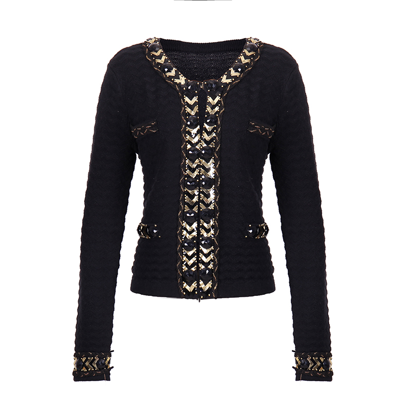 Latest fashion womens cotton knitted winter fall round neck warm sweaters cardigan for women