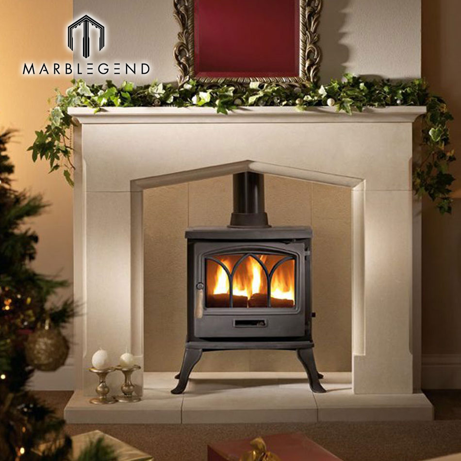 Hot Modern Style Decor Flame Parts Natural Stone Sandstone Fireplace