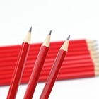 Excellent quality 7.5 inch HB color red wooden pencil with eraser