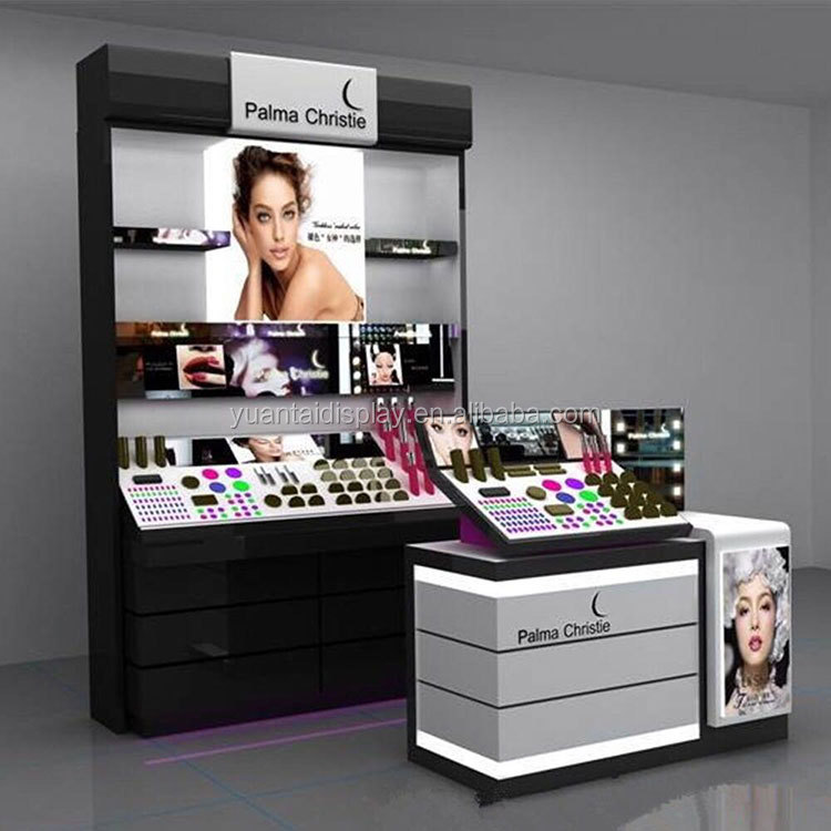 MDF material perfume shop showcase cabinet display