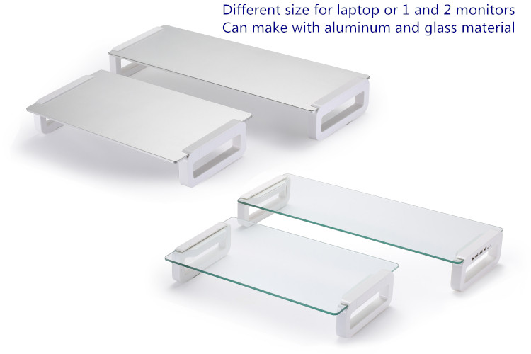 Tempered glass multifunction universal laptop monitor stand