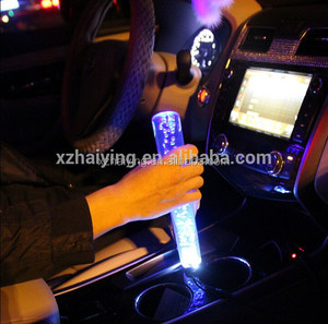 Wholesale Universal Car LED Crystal Bubble Gear Shift Knob unique novelty Car Gear Knob