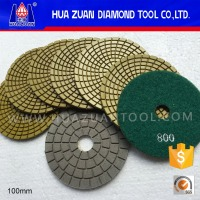 4inch granite diamond stone wet polishing pads