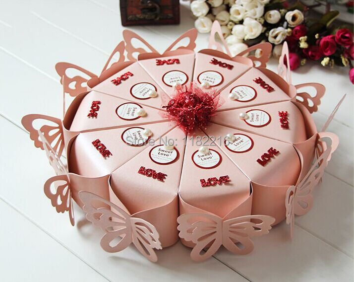 50pcs butterfly candy boxes pink cake candy boxes card flower pearl decorative box wedding. Black Bedroom Furniture Sets. Home Design Ideas