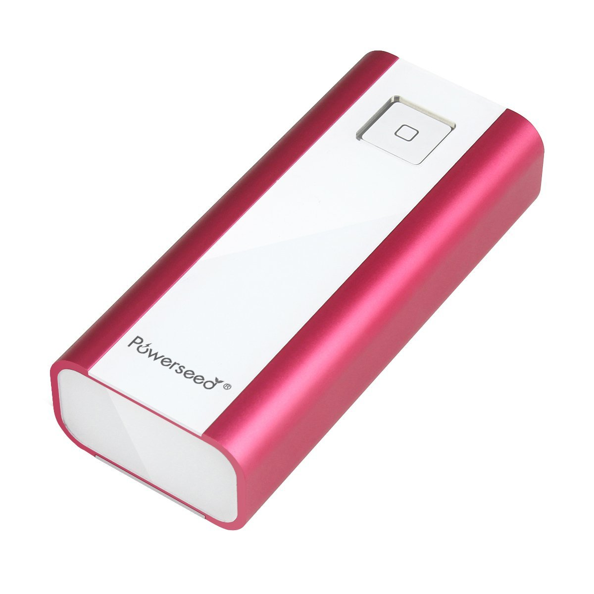 Powerseed Bank / Executive Pro PS4800 Fuchsia Pink Power Bank USB Portable Charger with LED flashlight for Samsung Galaxy S6, S5, Samsung Gear, Note 4, Apple Watch, iPhone 4, iPhone 5, iPhone 5S, iPhone 5C, iPhone 6, iPhone 6 Plus, Android Phones, iPad, Android Tablet, Windows Tablet, Go Pro Hero