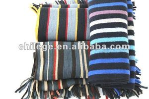 warp knitted scarf, striped mufflers