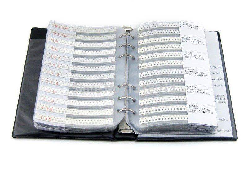New YAGEO R0805 Electronic Components Sample Book of 0805 Series SMD Resistor 177types 8850pcs