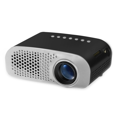 GP802A 100 Lumens Double HD Mini <strong>Projector</strong> for Home Theater / School(Black)