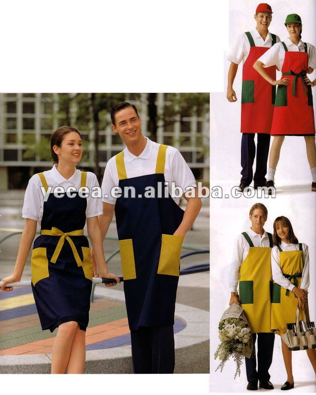 Hot Saleing Housekeeping Apron (100%cotton)