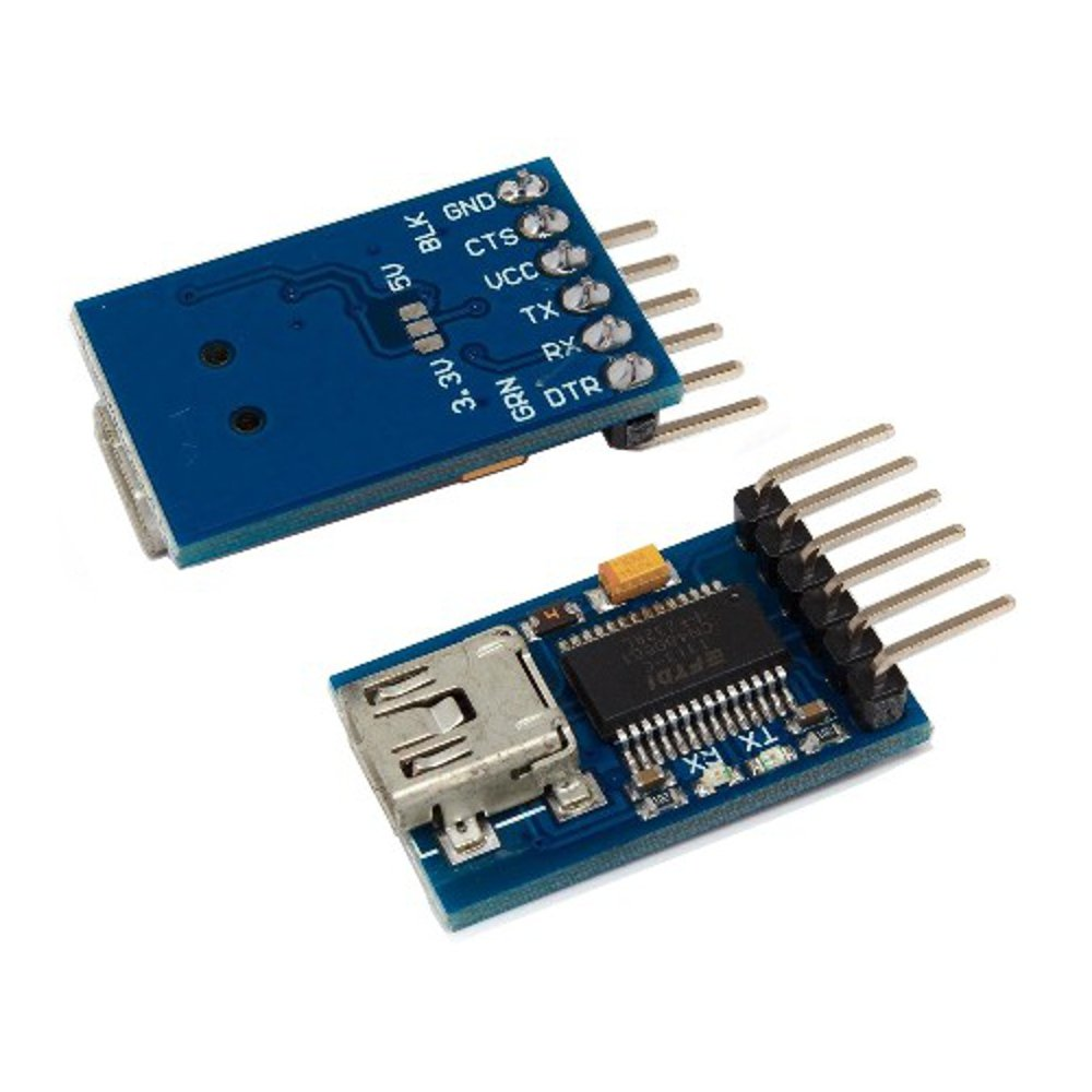 Mini FT232RL Chip USB to UART Serial Converter Module for Microcontroller to Computer Communication from Optimus Electric