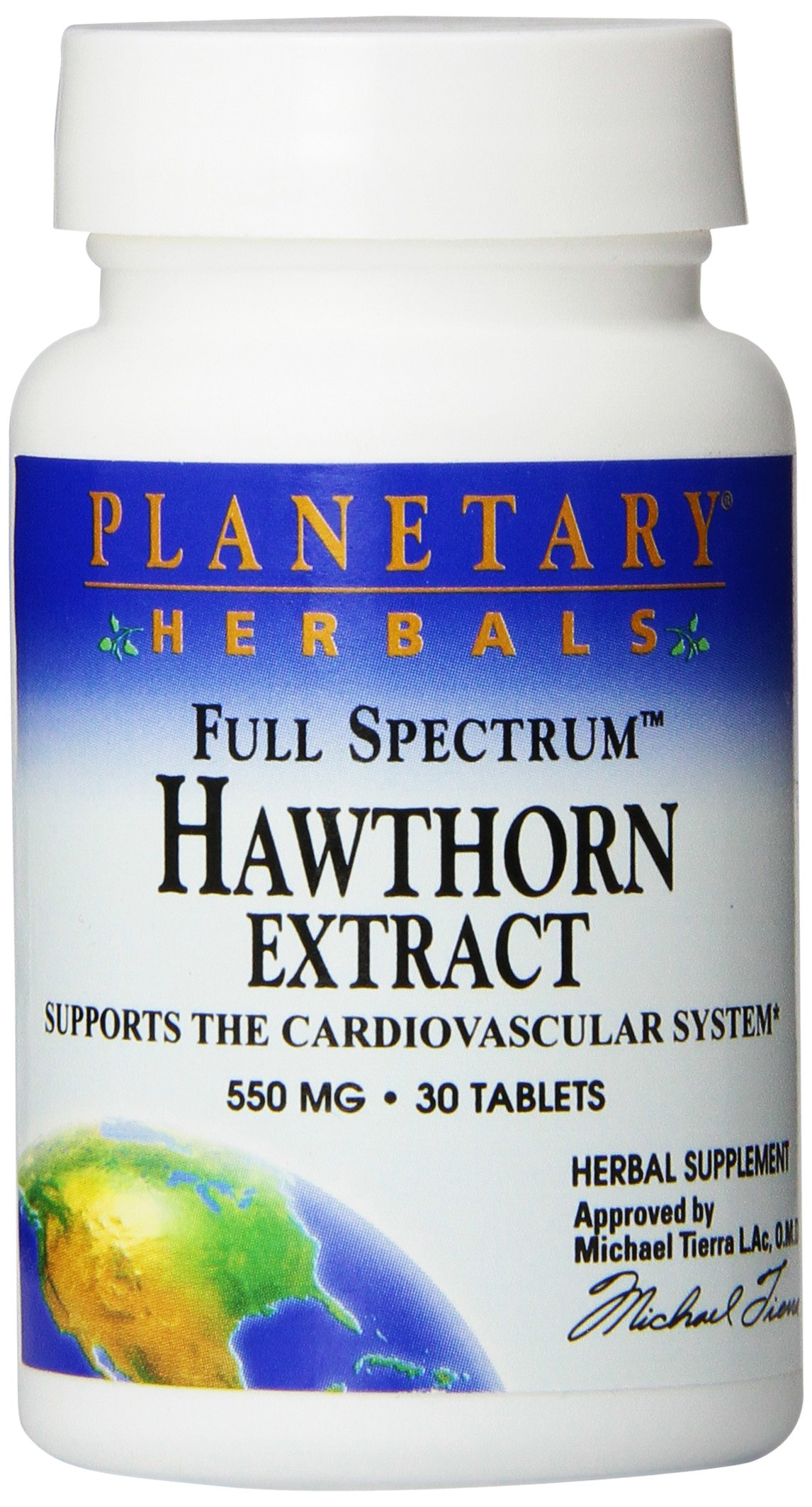 Planetary Herbals Full Spectrum Hawthorn Extract Tablets, 30 Count