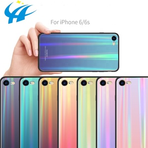 New product ideas 2018 colorful gradients TPU tempered glass phone case back cover for Apple iPhone X/XS/XR/XS MAX