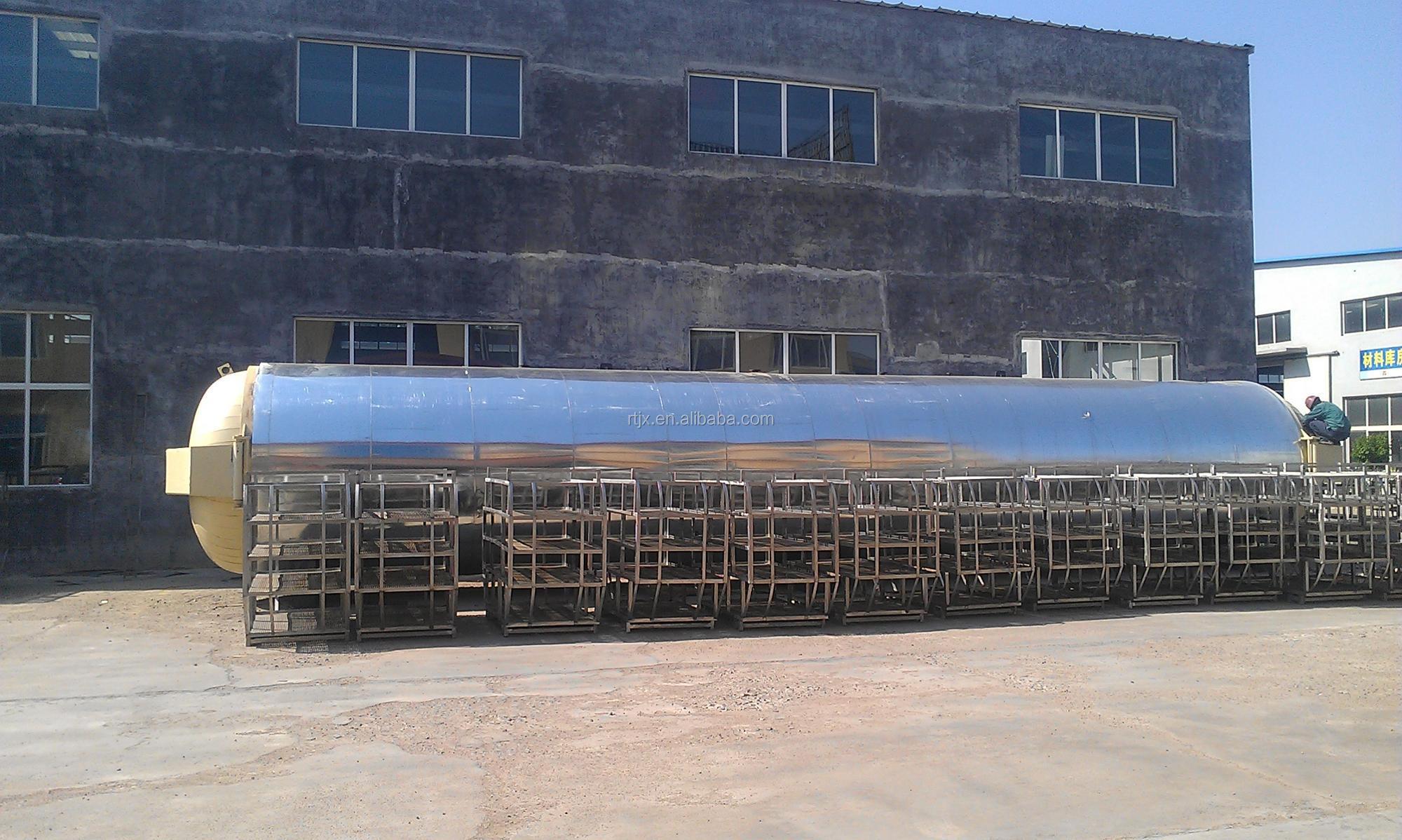 Çift kapılı buhar otoklav sterilizatörü için istiridye mantarı