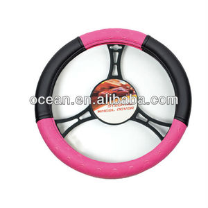 High Quality Black and Pink Lady Car Steering Wheel Cover