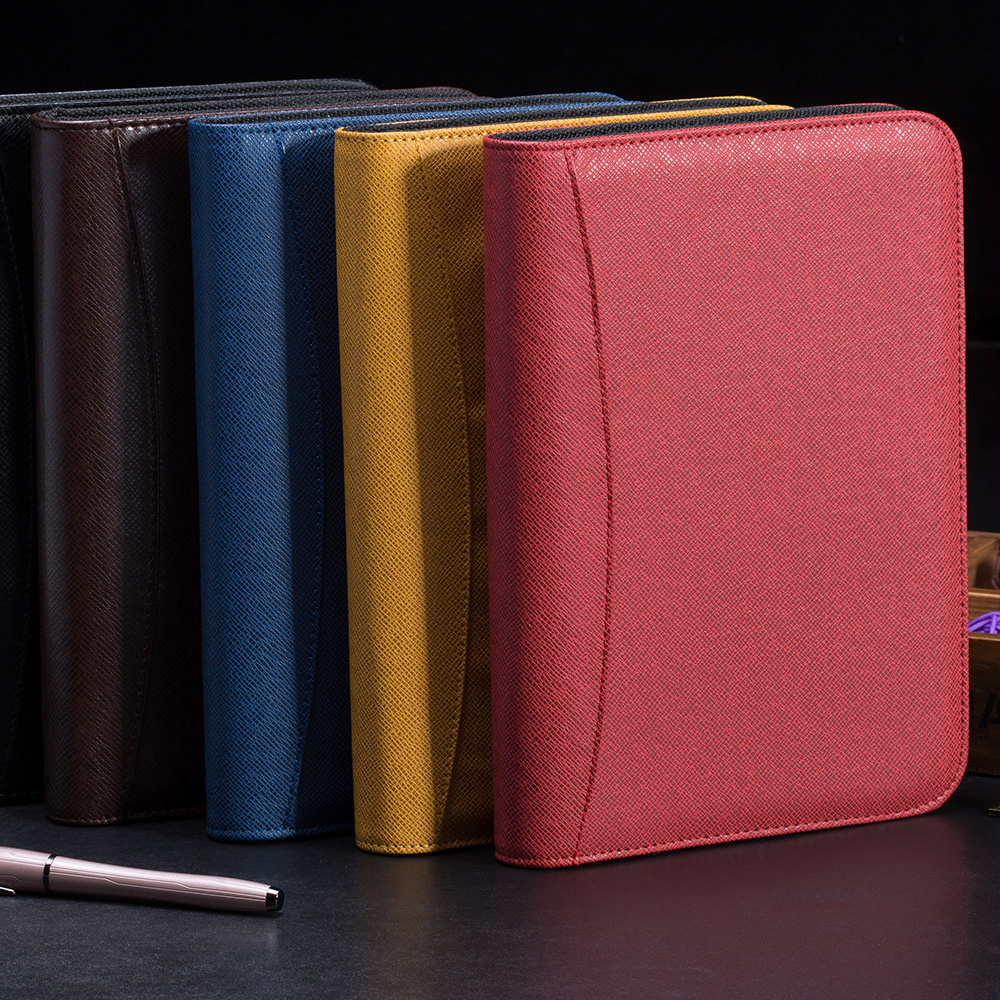2017 hot promotional leather notebook and diary