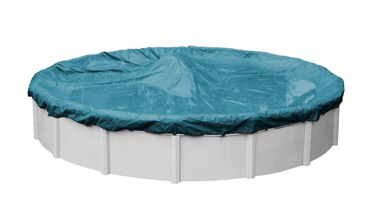 Pool Mate 5818-4 Guardian Winter Round Above-Ground Cover, 18-ft, Teal Blue