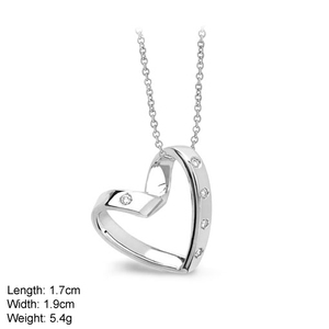PZA-0928 Simple Design Plain Heart Pendent in 925 Sterling Silver With CZ Stone Jewelery For Mother