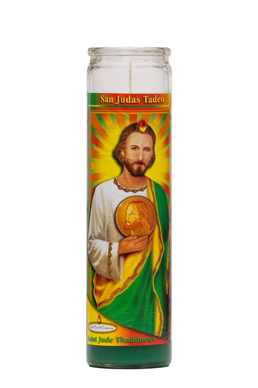 8e7d054c96f Get Quotations · St Jude Religious Prayer Candle / San Jude Novena Vigil  Candle / Saint Jude Candle