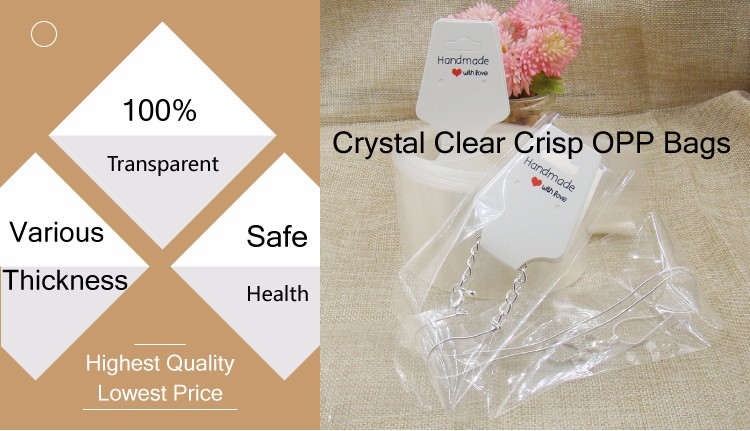Resealable transparent custom polybag packaging clear plastic poly opp bags for clothing/garment