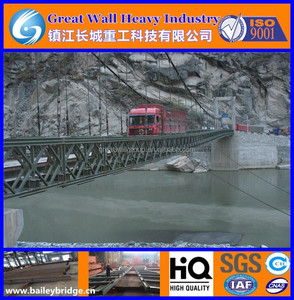 Custom all kinds of large span Bailey Suspension Bridge(BSB) and Cable Suspension Bridge(CSB)