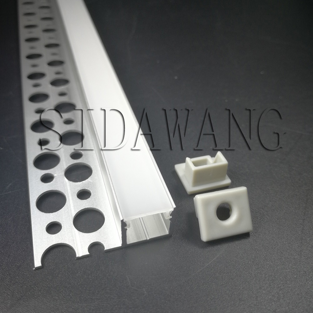 Drywall plaster aluminum led profile channel for 10mm width strip